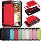 Shockproof Card Holder Wallet Phone Case Cover for iPhone 5s SE 6s 6 7 8 8+ Plus