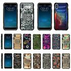 For Apple iPhone XS Armor Rugged Hybrid Holster Belt Clip Case Kickstand