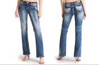 Grace In LA Round Dragonfly Stiched Plus Size Denim Jeans