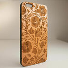 Phone Fitted Cover Wood & TPU Carved Protect Case For iPhone 11 Pro X XS Max 8