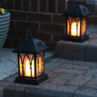 2 X Solar Power Outdoor Garden Flickering LED Candle Lantern Light | Traditional