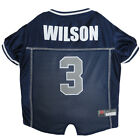 Russell Wilson Seattle Seahawks #3 Licensed NFLPA Dog Jersey Blue, Sizes XS-XL $31.96 USD on eBay