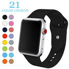 Soft Silicone Sport Wrist Band for Apple Watch Series 2 3 4 44mm 42mm 40mm 38mm image