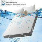 Waterproof Mattress Protector Breathable Soft Hypoallergenic Fitted Pad Cover US image
