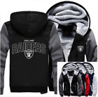 Winter Thicken Hoodie Team Oakland Raiders Warm Sweatshirt Lacer Zipper Jacket@ on eBay