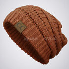 CC Beanie New Women Knit Slouchy Oversize Thick Cap Hat Unisex Slouch Color