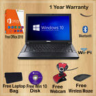 Ultra Fast Windows 10 Dell Latitude Laptop 4gb 1tb Wifi Free P&p With Colours
