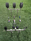 New 3 Rod Stainless Steel Goal Post Buzz Bars Banksticks Rests Bite Alarms &more