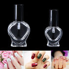 5/10ml Empty Heart Nail Polish Clear Glass Bottle Storage Container with Cap YF