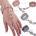 Внешний вид - Rose Gold 1920s Flapper Accessories Bracelet Ring Set Bead Crystal Style Jewelry