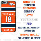 DENVER BRONCOS FOOTBALL PHONE CASE COVER FITS iPHONE SAMSUNG LG etc NAME & No.