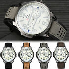 Men's Military Watch Date Leather Strap Army Sports Analog Quartz Wrist Watches image