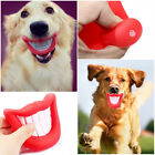 Creative Blazing Red Lips Design Pets Dogs Squeaky Sound Playing Chew Molar Toys