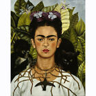 HD Canvas Painted Painting Decor Frida Kahlo Autoritratto Collana Di Spine#508
