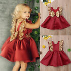 Christmas Sequins Toddler Baby Flower Girl Dress for Baptism Christening Party
