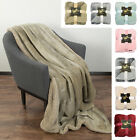 Sherpa Blanket Snuggle Throw Reversible Soft Fuzzy Micro Plush Fleece Blankets image
