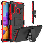 For Samsung Galaxy A21 Case Shockproof Hybrid Rugged Holster Kickstand Cover