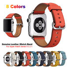38/42mm iWatch Leather Band Casual Strap Bracelet for Apple Watch Series 4 3 2 1