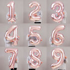 """32/40"""" Rose Gold Number Birthday Balloons Helium Foil Wedding Supply Party Decor"""