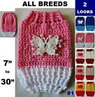 CROCHET Dog Coat Sweater Jumper Vest Warm Winter Clothes Pet Outwear Jacket for sale  Shipping to Ireland