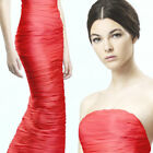 ERMANNO SCERVINO Coral Red Silk Strapless Bustier Dress Gown  2 or 4