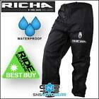 Richa Rain Warrior Motorcycle 100% Waterproof Over Trousers/Pants/Jeans - Black