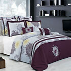 King/Calking Embroidered Print Fifi 7PC 100% Cotton Super Soft Duvet Cover Set image
