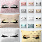 New Pillow Case Glitter Car Sofa Throw Cushion Cover Eyelash Lash Home Decor image