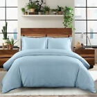 600 Thread Count 100% Combed Cotton Sateen Weave Solid Duvet Cover Set image