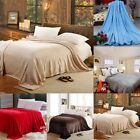 Super Soft Warm Solid Warm Micro Plush Fleece Blanket Throw Rug Sofa Bedding image