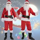Christmas Santa Claus Costume Fancy Dress Adult Suit Cosplay Party Outfit 7PCS <br/> ❤High Quality❤SAME DAY NJ USA SHIPPING❤US Seller