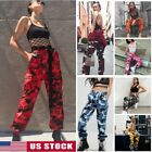 Women's Camo Cargo Trousers Casual Pants Military Army Combat Camouflage Sports