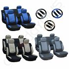 3MM Sponge Padding Car Seat Covers W/4 HeadRest/Steering Wheel Covers For Ford $38.74 USD on eBay
