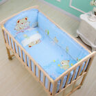 6Pcs 120 65cm Cotton Baby Crib Bedding Sets with Bumper Mattress Cushion Pillow