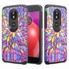 For Tracfone Moto E5 (XT1920DL) Hybrid Dual Layer Shockproof Cover Cases