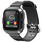 360° Shockproof Silicone TPU Sport Band With Armor Case For Fitbit Versa