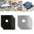 Внешний вид - 2/4x Reusable Gas Stove Clean Top Burner Protector Liner Cover Mat Pad Cleaning
