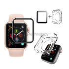 Full Cover Screen Protector & TPU Case For Apple Watch Series 4 3 42mm 40mm 44mm image