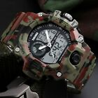 SKMEI Mens Digital Sports Watch Heavy Duty Analog Digital Army Chronograph 5 ATM image