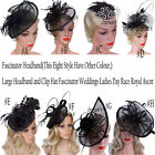 Внешний вид - Fascinators Hair Clip Headband Hat Bowler Feather Veil Wedding Party  Ladies Day