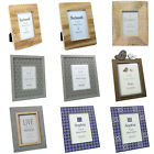 Photo 6x4 & 7x5 Picture Frames. Shabby Chic Designer Wood Natural Half Price
