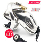 USA SHIP New Design 316 Stainless Steel Male Standard Chastity Device A370-SS-L1