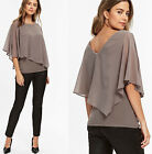 Wallis Petite Layered Embellished Evening Going Out Party Top Blouse in Mink