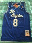Kobe Bryant 8 Los Angeles Lakers Classic Throwback Jersey Blue on Light Blue