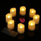 12pcs LED Bright Tea Lights Waved Edge Candle Lamps for Birthday Wedding Decors