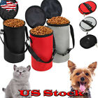 Collapsible Dog Travel Bowl High Quality Pet Hamster Dry Food Container Bag New