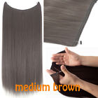 Long Curly No Clips in Secret Fish Line Hair Extension Invisible Wire Hairpieces