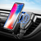 Qi Wireless Car Charger 10W Air Vent Phone Holder For iPhone 8 X SAMSUNG S8 S9+