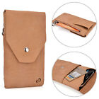 Universal Genuine Leather Phone Case Full-grain Leather Wallet Cover Pouch