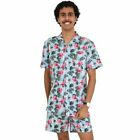 Flirty Flamingo Mens Cotton Hawaiian Shirt & Shorts Set